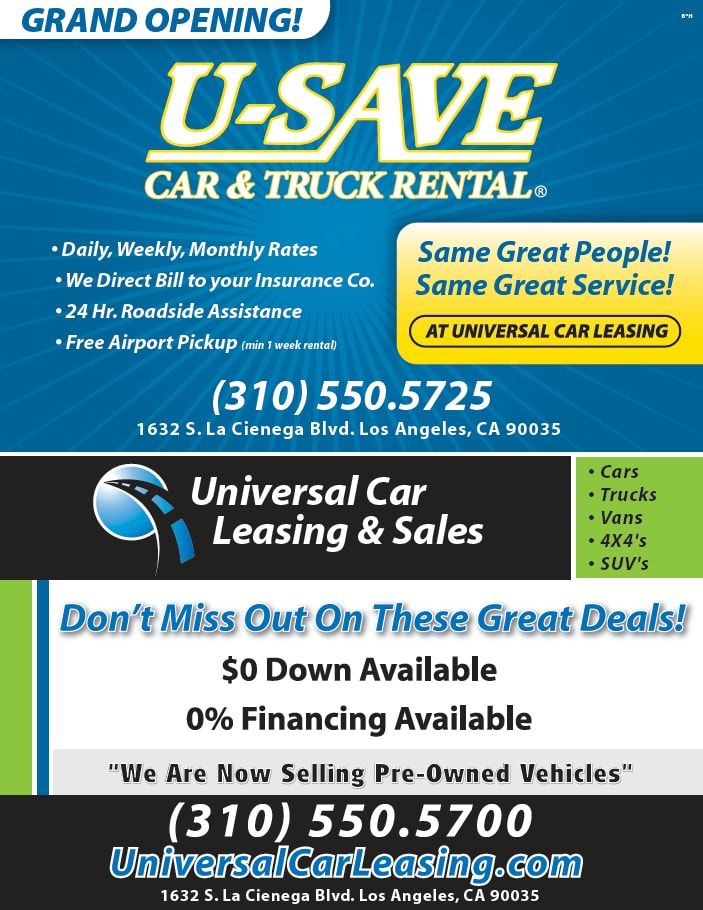 Car Rental Daily Weekly Monthly Universal Car Leasing Sales U