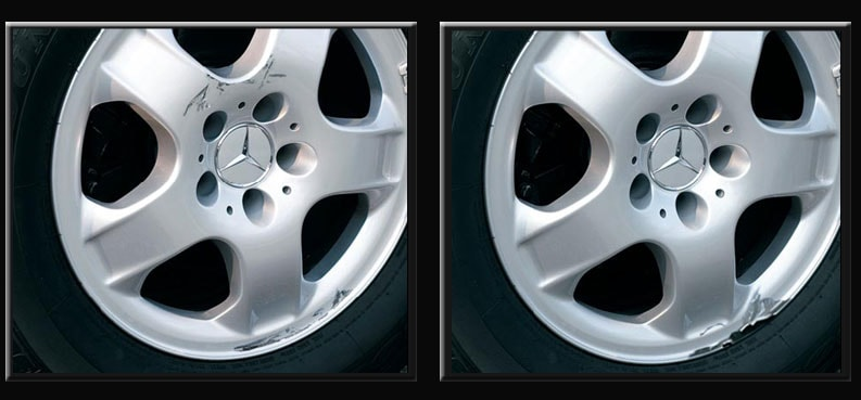 Mercedes-Benz Wheel Scuff and Damage
