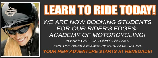 Learn to Ride at Renegade H-D