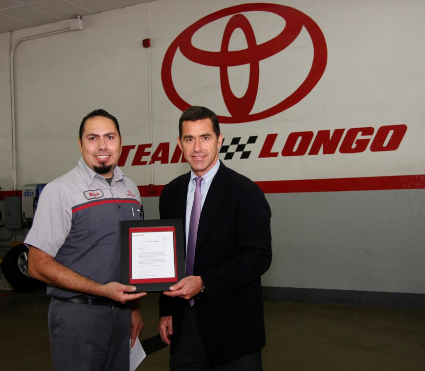 Mariano Rubio and Longo Toyota CEO