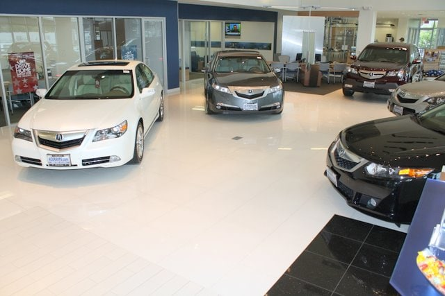 Norm Reeves Acura Showroom view
