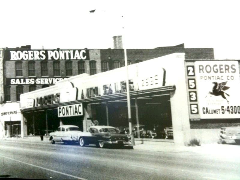 Rogers Pontiac in Chicago Circa 1956