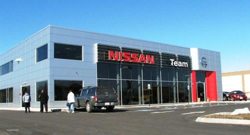 Image of Team Nissan Showroom at 70 Keller St, Manchester, NH