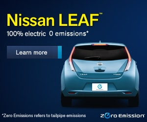 Image of Nissan leaf car at Teamnissannh.com - 100% electric 0 emissions*