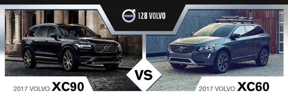 2017 Volvo XC60 vs. 2017 Volvo XC90 Near Boston, MA   128 Volvo