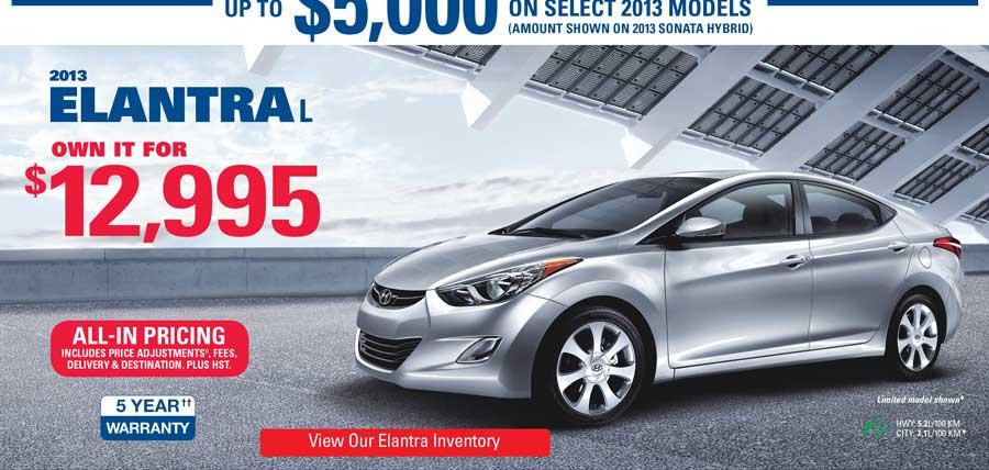 The Hyundai Advantage In Cambridge Ontario Final Clearout