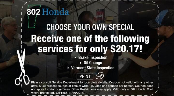 $20.17 Honda Service Coupon Special