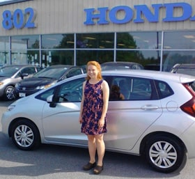 Anne and her new 2015 Honda Fit LX