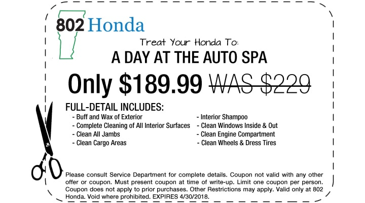Honda Deals, Specials Offers and s | 802 Honda, Vermont