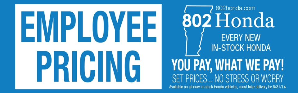 802 Honda's 1st Employee Pricing Event