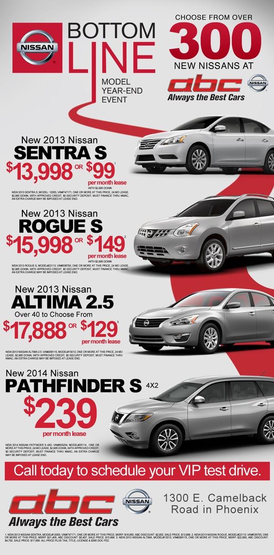 Nissan Bottom Line Model Year End Sales Event