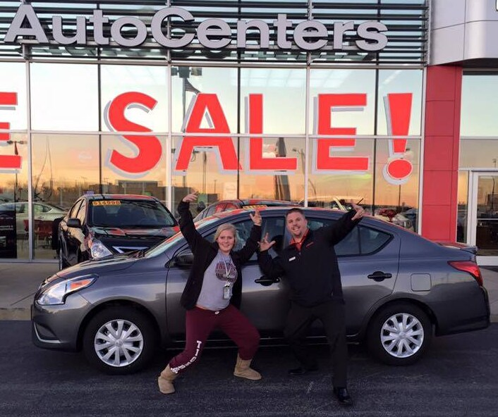 a Happy New Customer at AutoCenters Nissan