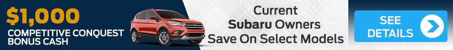 Current Subaru Owners Save $1,000 With Acton Ford