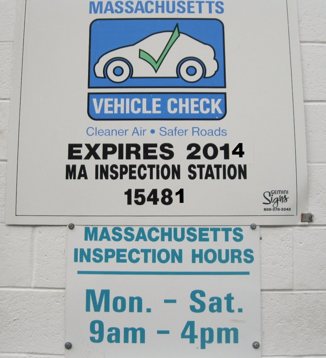 Car sticker inspection - Massachusetts State Inspection