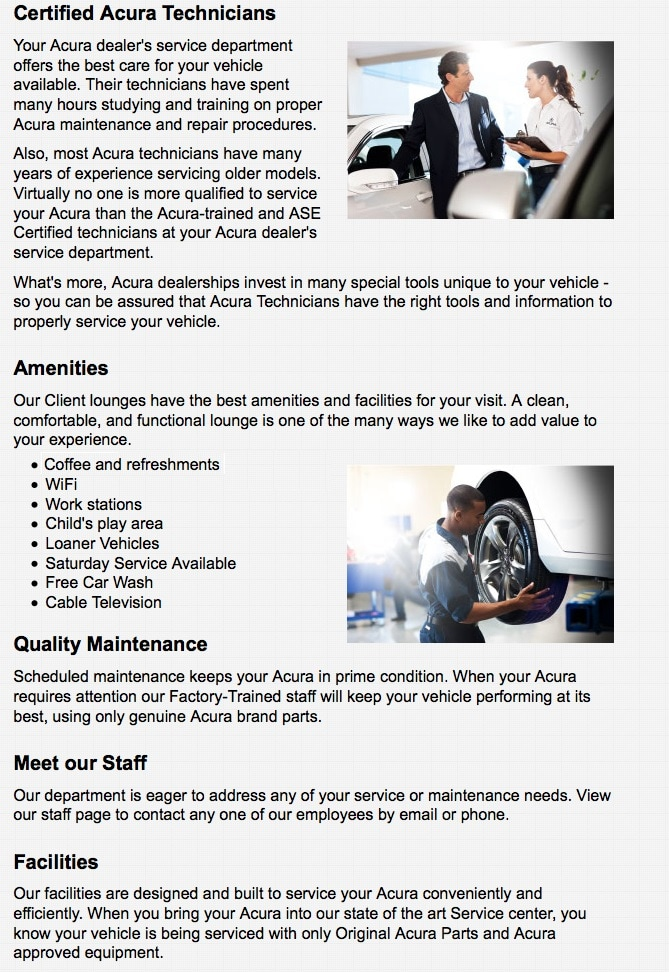 Discount factory (OEM) Acura parts and accessories at Park Acura ...