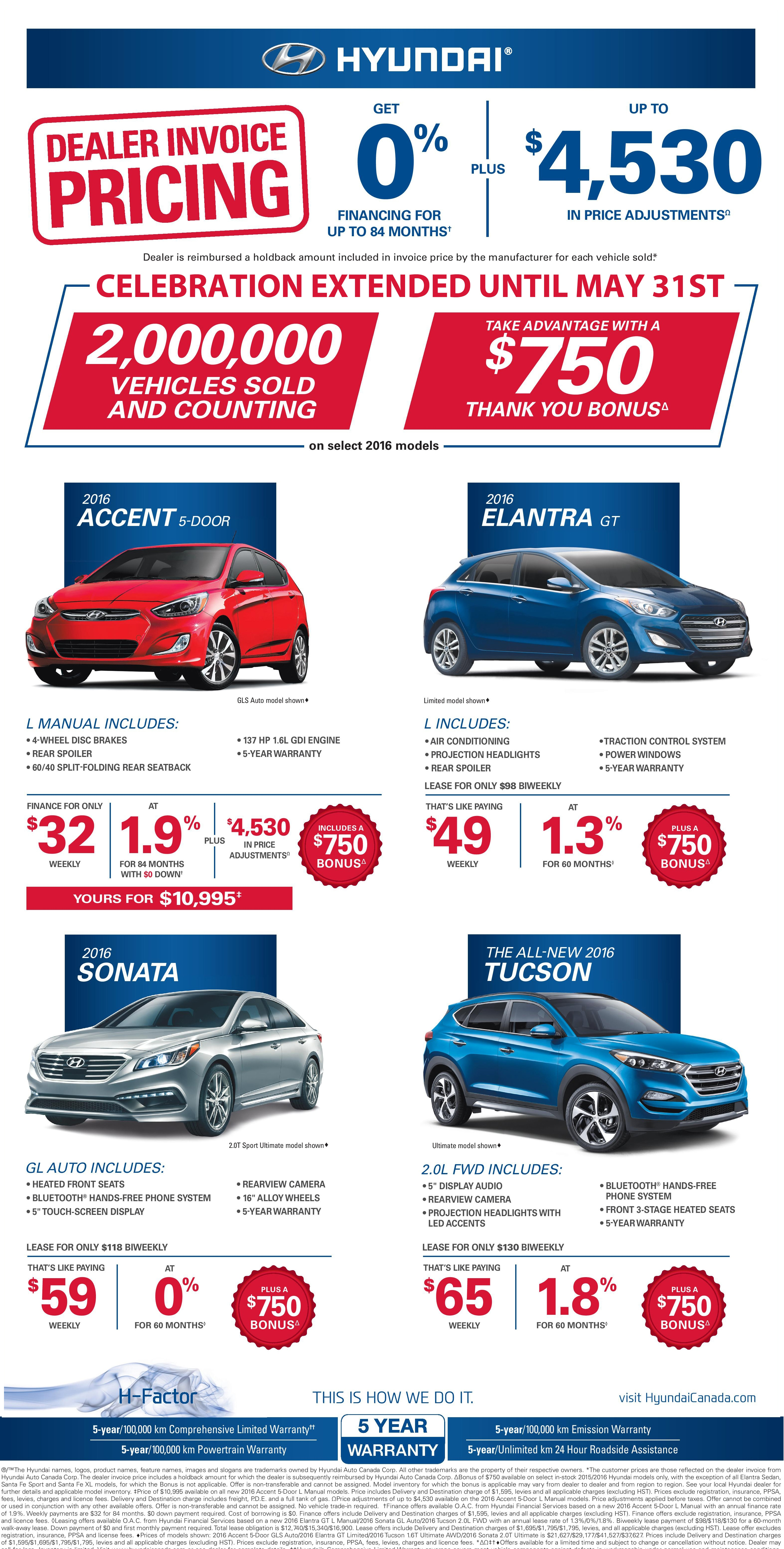Agincourt Hyundai Dealer Invoice Pricing Event New Used Cars For - Do car dealers have to show you the invoice