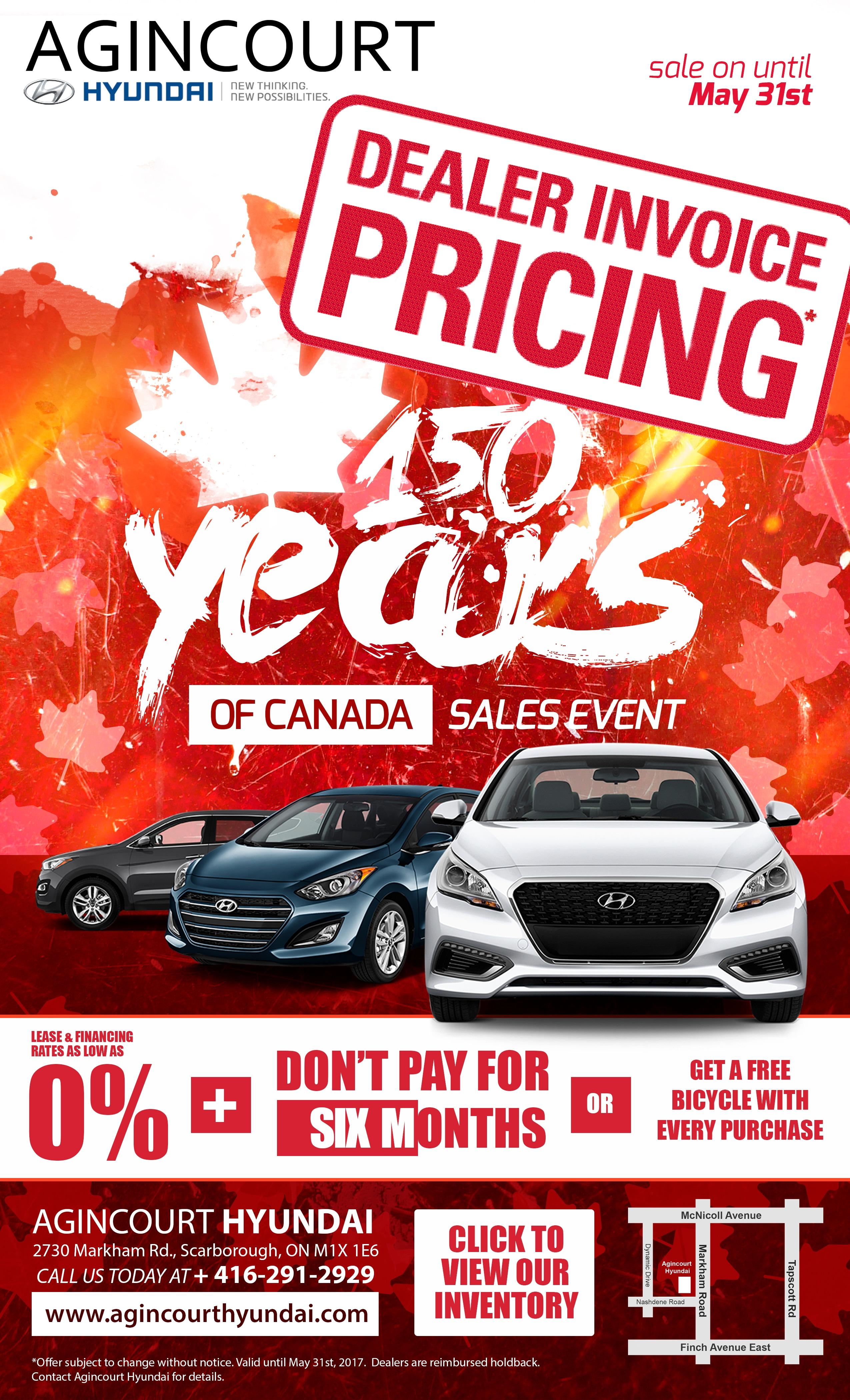 Years Of Canada At Agincourt Hyundai Dealer Invoice Pricing - Hyundai tucson invoice