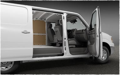Image: Passenger side doors, open