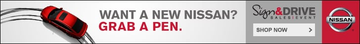 Nissan Sign & Drive Sales Event