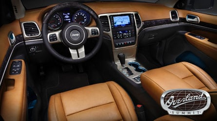 Interior of 2012 Grand Cherokee Summit