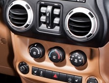 Comfort controls in 2012 Jeep Wrangler Unlimited