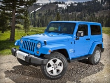 2012 Jeep Wrangler Rubicon best-in-class approach and departure angles.
