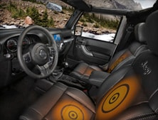 Heated front seats in 2012 Jeep Wrangler