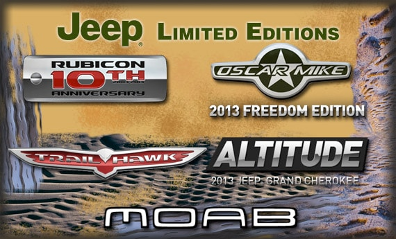 2013 Jeep Limited Edition model logos