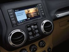 Uconnect touchscreen in 2012 Jeep Wrangler