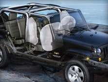 Cutaway of the powertrain of a 2012 Jeep Wrangler Unlimited