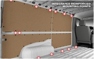 Image: Vehicle cavity detail - mounting points