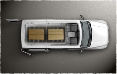 Image: Vehicle with palettes - overhead cross section