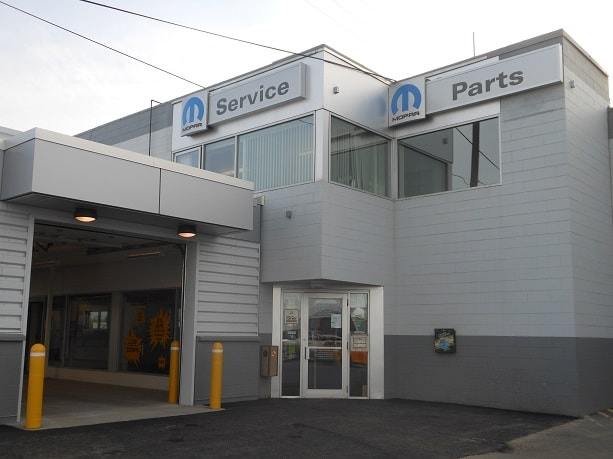 Exterior View of the Mopar Parts & Service Center at Anchorage Chrysler Dodge Jeep Ram