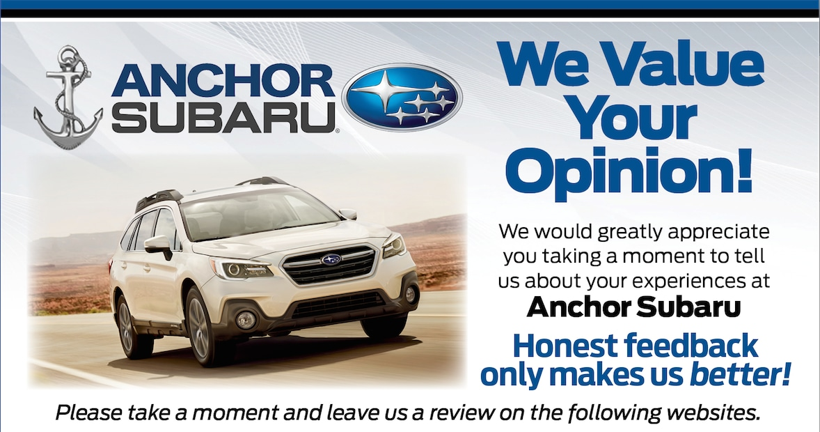 Anchor Subaru | New Subaru dealership in North Smithfield, RI 02896