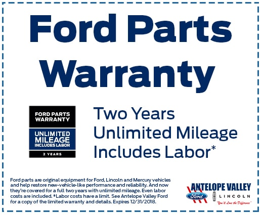 Ford Parts Warranty at Antelope Valley Ford