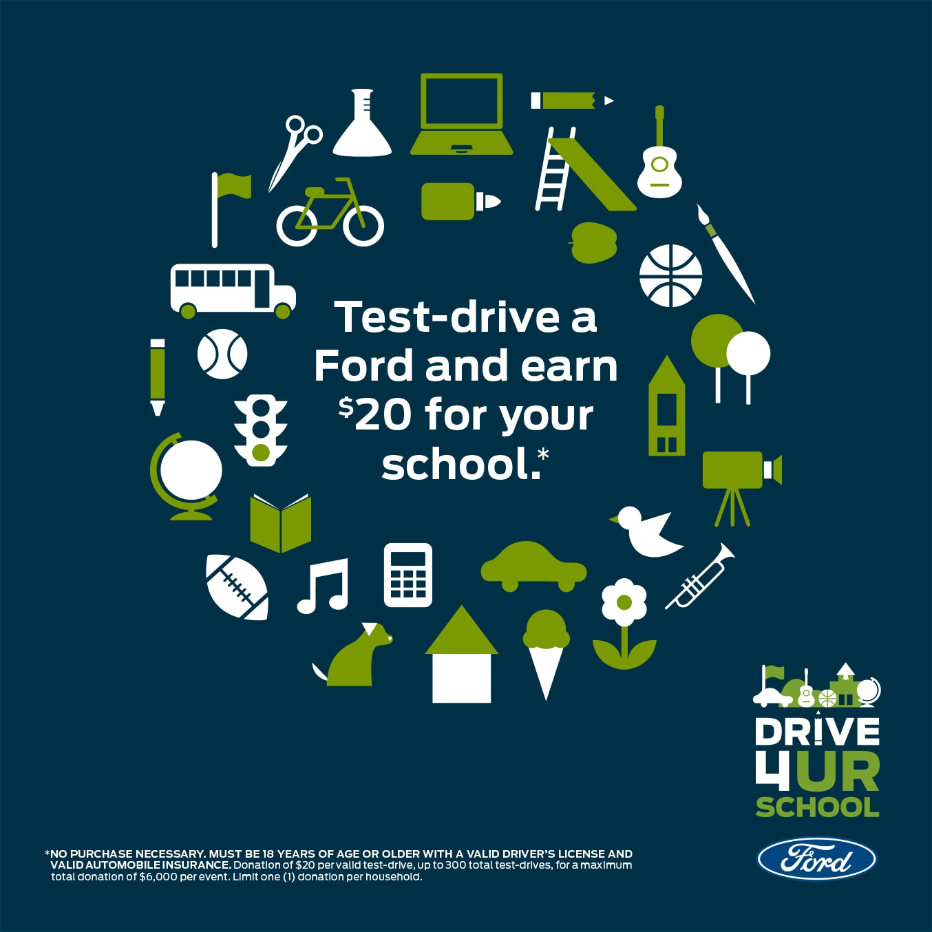 Ford Drive 4 UR School or community, Test drive a Ford and earn $20 for your group at Antelope Valley Ford