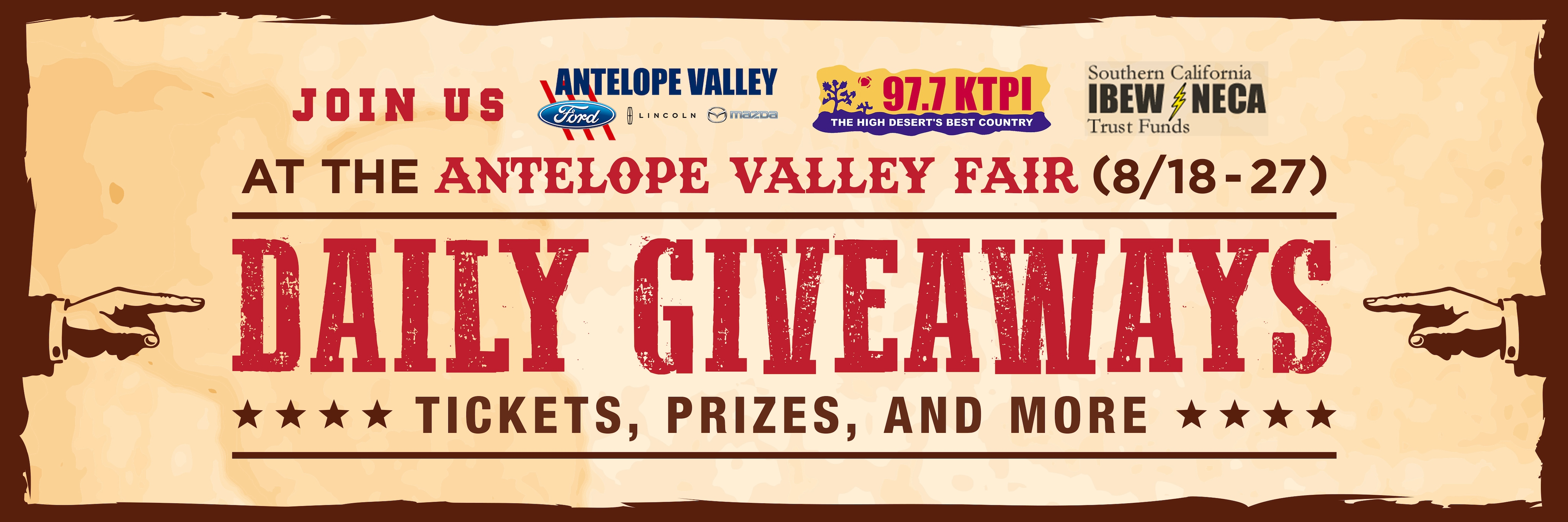 Join AV Ford Lincoln Mazda at the Antelope Valley Fair - Enter to Win Giveaways!!