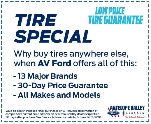 AV Ford Lifetime Tire Guarantee