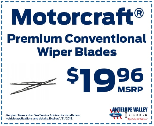 Motorcraft Premium ConventionalWiper Blades at Antelope Valley Ford