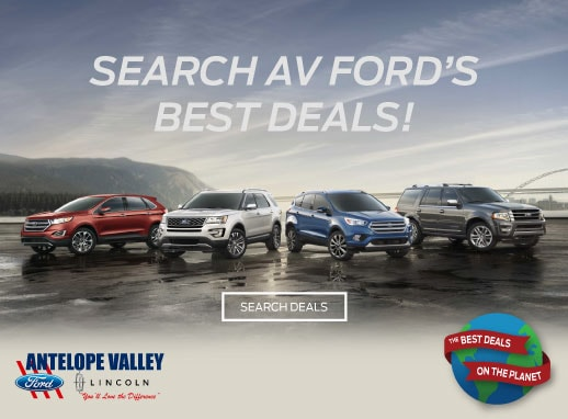 The best deals on the planet are at Antelope Valley Ford! Search now