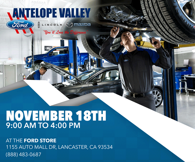 Join us for the Antelope Valley Ford Lincoln Mazda Job Fair on November 18th from 9am-4pm