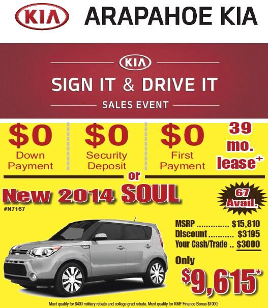KIA Sign It & Drive It Sales Event L Serving Denver