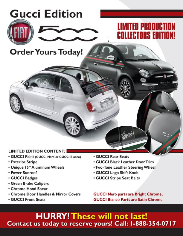 2012 limited edition gucci fiat 500 west palm beach gucci fiat 500 fl. Black Bedroom Furniture Sets. Home Design Ideas