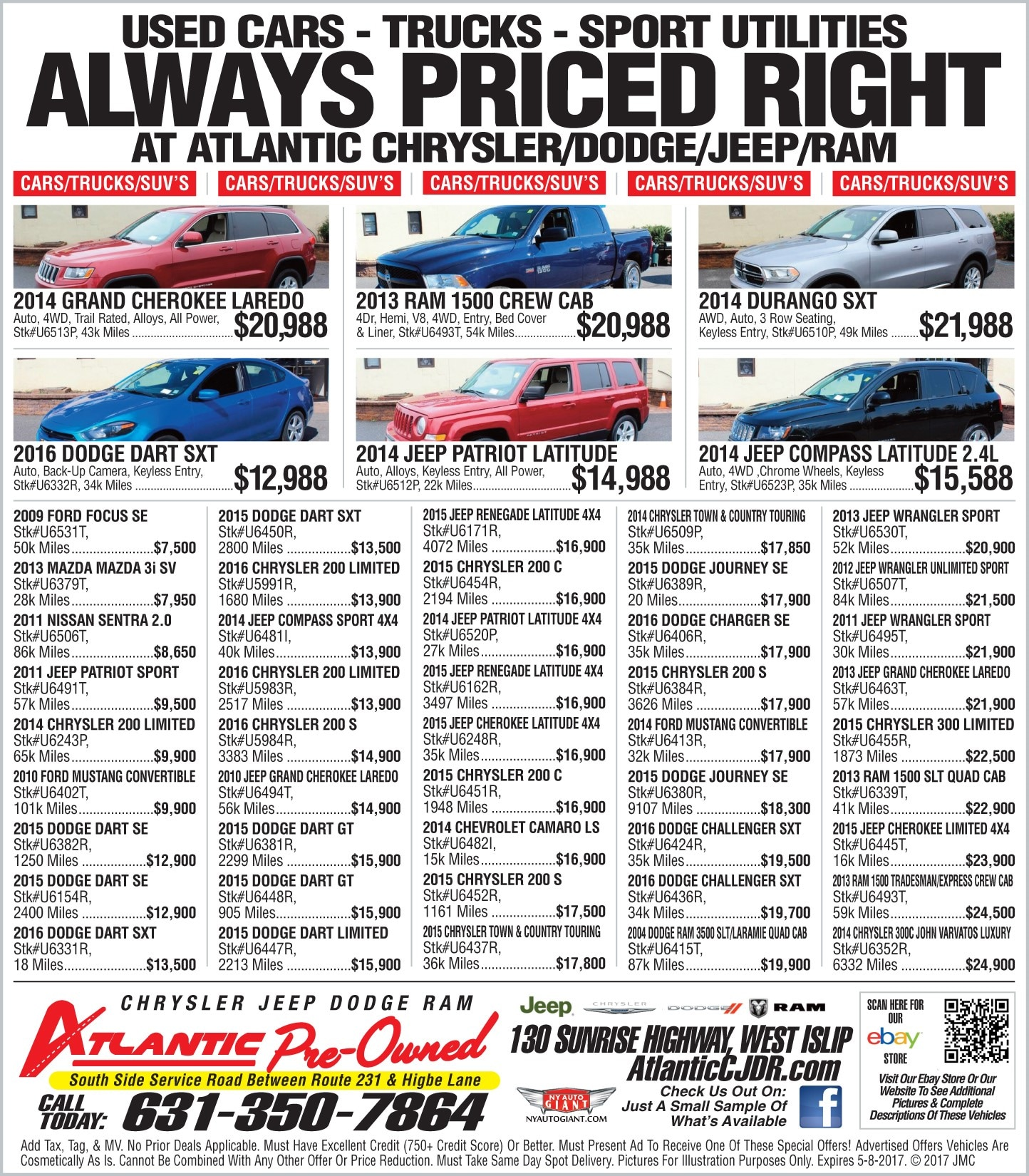 Atlantic chrysler dodge jeep ram - Atlantic Chrysler Jeep Dodge Ram Located At 130 Sunrise Highway West Islip Ny Can Help You Find The Pre Owned Vehicle You Are Looking For