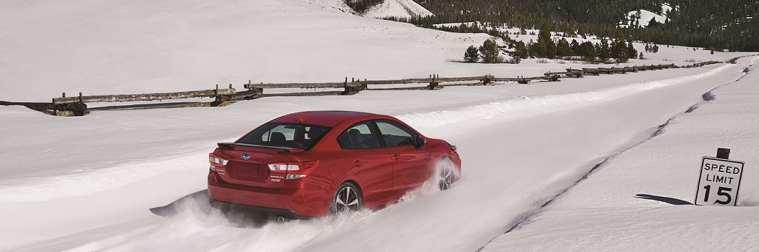2017 Subaru Impreza Sport sedan in snow