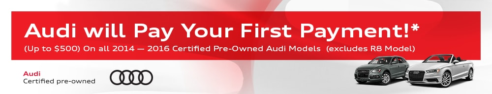 Audi First Payment Waiver