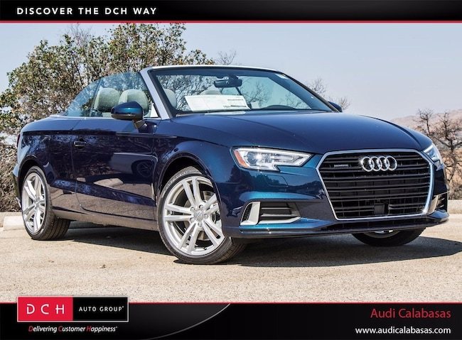 New 2018 audi a3 cabriolet 20t cosmos blue metallic black roof new 2018 audi a3 20t cabriolet for sale in calabasas sciox Images