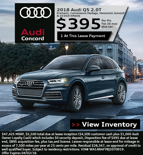 Audi Lease Offer: Audi Concord Lease Specials In