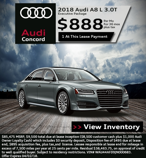 Audi Concord Lease Specials In