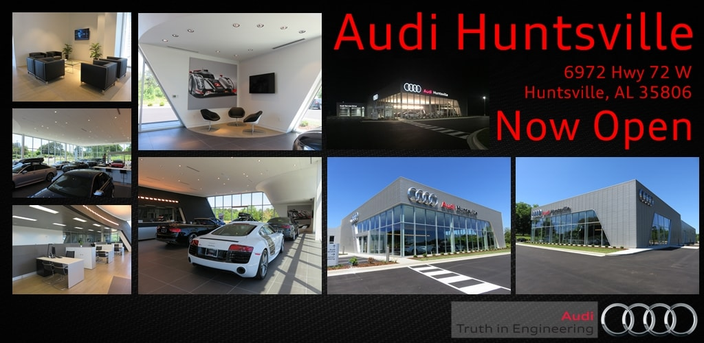 about audi huntsville new audi used car dealer in al. Black Bedroom Furniture Sets. Home Design Ideas